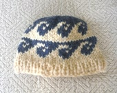Wool Toque Cowichan Pacific WAVES Beanie Hat handknit accessories from Raincoaststudio on Etsy
