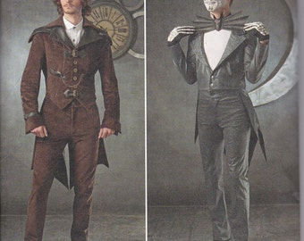 Simplicity 1039 Mens Jacket Airship Coat Tails Pants Steampunk Suit Halloween Kinsale Day of the Dead Costume Sewing Pattern Sizes 38-44 NEW