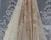 Reserved for Kelsey Deposit for custom wedding ivory cream floral by vintage opulence on Etsy