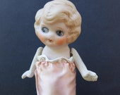 6 in Vintage Japan Bisque Doll Movable Arms