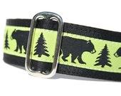 "Dog Collar Martingale or Buckle 1.5""- Black Bear"