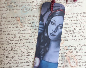 Snow White Bookmark Art Bookmark Fantasy Art Gothic Art Fairy Tale Bookmark