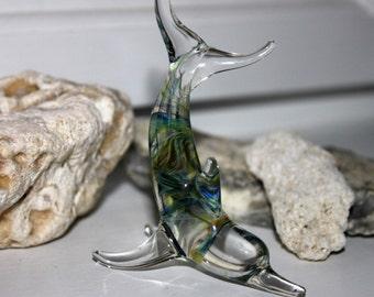 Blue/Green Dolphin Sculpture