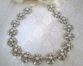 Pearl Wedding Sash Bridal Belt Wedding dress sash bridal dress sash Pearl and Crystal belt rhinestone sash