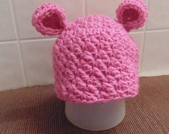 Heidi Bear Hat Crochet Pattern - Baby Bear Hat Pattern - Baby Crochet Pattern - Kid Hat Pattern - Adult Hat Pattern