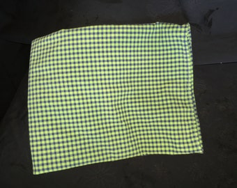 Vintage Green and Blue Checked Table Top Cover
