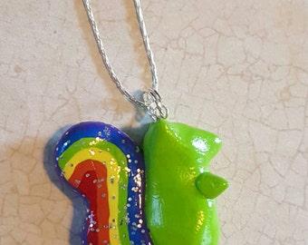 ADD/ADHD Rainbow Glitter Squirrel