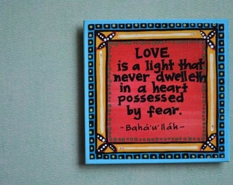 Art Magnet- Baha'i Quote- Colorful Magnet- Love Quote
