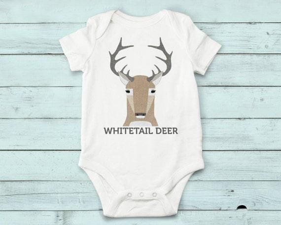 Whitetail Deer - onesie, baby girl, baby boy, gift, baby girl clothes, baby boy clothes, baby onesie, cute onesies, infant bodysuit, animals
