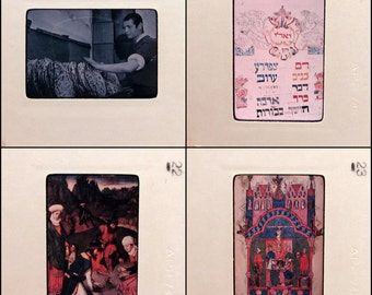 35 Vintage Slides - Passover - 35mm Slides - Pesach - Judaism - art - history - educational - hebrew - jewish - religion