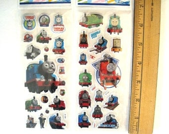 Supplies.  THOMAS and Friends . Train Engine.  Puffy Stickers. 2 Sheets.