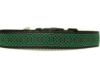 1 Inch Wide Dog Collar with Adjustable Buckle or Martingale in Druid
