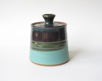 Lidded Jar made in Stoneware