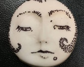 clay face  polymer  small round   faces jewelry craft supplies  handmade   mosaic doll tile fairy goddess spirit polymer findings  zentangle