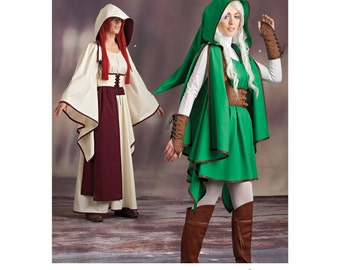Sewing Pattern-Simplicity 8199 -Link, Elf, Fairy Hooded Costume size 6-14