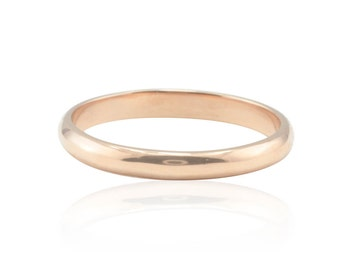 Wedding Ring, Thin and Dainty 14kt Gold Wedding Band or Knuckle Ring - Choose your color of Gold - Comfort Fit - LS660