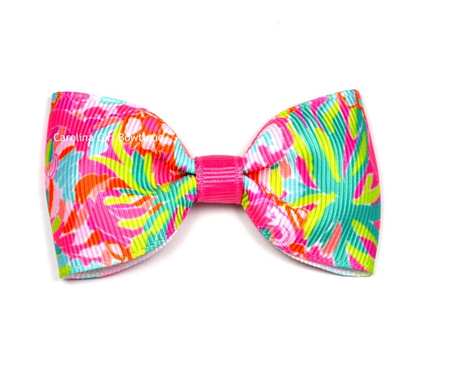"Multi Lulu ~ 3"" Hair Bow Tuxedo Bow ~ Lilly Inspired ~ Simple Bow ~ Boutique Bow for Babies Toddlers ~ Girls Hair Bows"