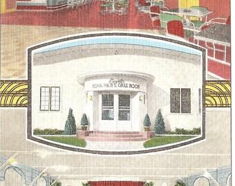 Liggetts Royal Pal Club Burlington Wisc  Vintage 20's -40's Linen Postcard