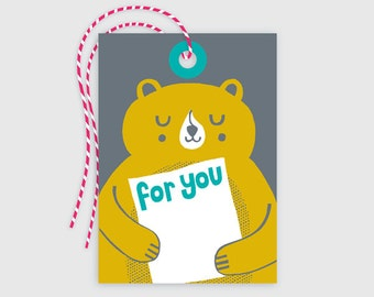 Gift Tag 10 pack - Bear