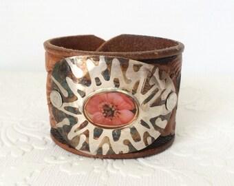 Patina Resin Spoon Bowl Art Cuff