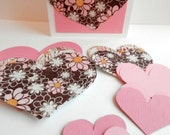 Valentine Hearts Kit Pinks and Browns Floral