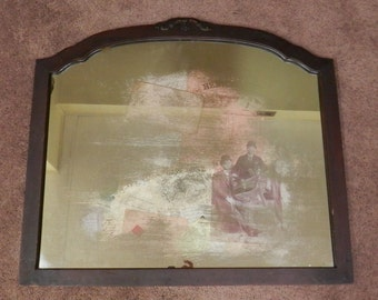 SALE.  Altered Upcycled Repurposed Mirror or Wall Art on Handmade Mirror