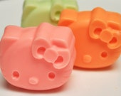 Kitty Cat Soap  - Cute Cat Soap - Fruit Scent - Cat Lovers - Goat's Milk Soap - Cat Soaps - Great Party Favors