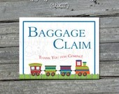 Baggage Claim sign - Train Transportation Train Station - Printable Sign - INSTANT DOWNLOAD
