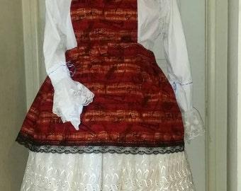 Musical Lyrical Pinafored Skirt Set