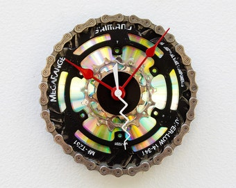 Recycled Bike Chainring Gear Clock