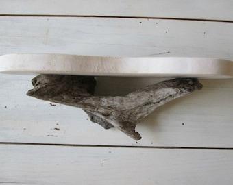 Beach cottage shelf recycled driftwood furniture shabby chic white shelf rustic wood