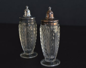 Art Deco Glass Salt and Pepper Shakers