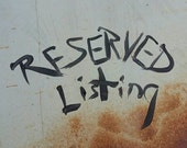 Reserved listing for linda151