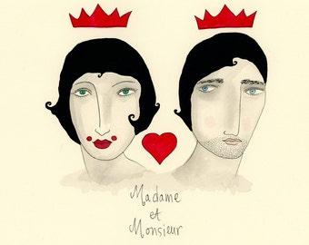 Madame et Monsieur- Love, Marriage, Crowns, Madame, Monsieur,