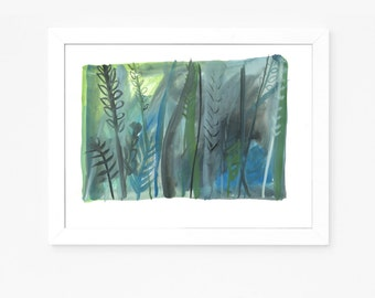 The Forest 003 - Original gouache painting on paper