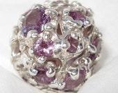 SALE- Alexandrite Sterling Silver Focal Bead Pendant OOAK USA HandMade Treasurings Jewelry Jerry Burkhart