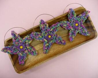ORNIES BOWL FILLERS Stars Jewel Tones | Set of 3 | Home Decor Baskets Wreaths Tucks Prim Rustic Country Colors Starfish Sea Star Coastal