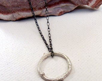 Twig Pendant, Solid Sterling Silver