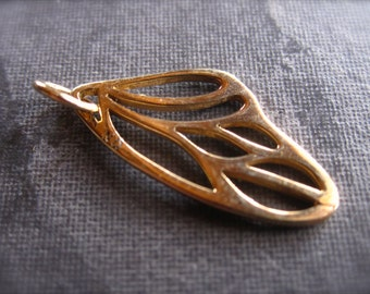 Bronze Butterfly Wing Charm - 22mm X 10mm