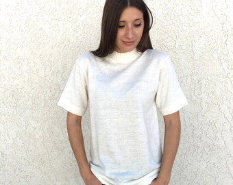 Vintage 60's Mod short sleeve turtleneck sweater