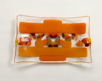 Kiln-formed One of a Kind Art Glass Dish by Bryan Northup