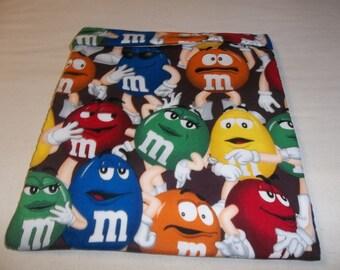 Large, Microwave, M M Potato Bag, Red, Yellow, Blue, Green, Orange, M and M, Baked Potato Bag, Potato Bag, Handmade, Kitchen Utensil