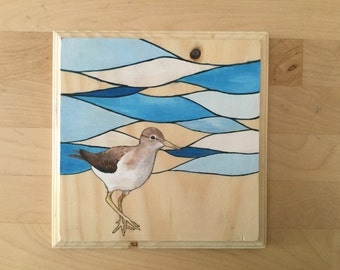 SALE The Sand Piper - July Challenge Painting #20