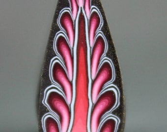 Polymer Clay Feather Cane -'Candy Carnival' (35aa)