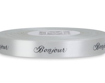 Bonjour Black and Creme French Ribbon, Midori, Gift Wrap, Cardmaking Supplies, Paper Arts, French Ribbon