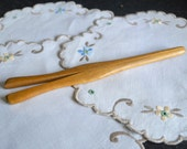 Antique Glove Stretcher Ladies or Gentleman's - Medium Tan Natural Wood - Grooming Accessory Circa Late 1800s - Early 1900s