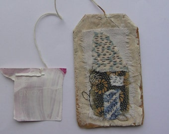 Tea Bag Art - House - SEW Somerset