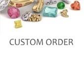 Custom Order Fleur de Lis Ametrine Ring Cushion Cut Gemstone Ring in 14K Gold Purple Gemstone Ring