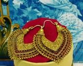 Portuguese lacy Filigree earrings folk style