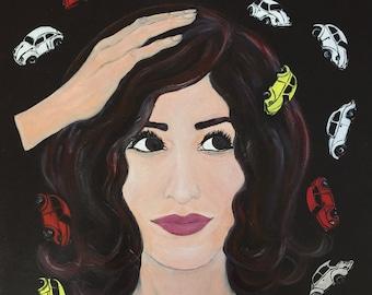 A Tale of Black-Eyed Susan - Original Acrylic Painting, 20 x 24